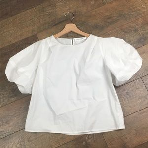 Amanda Uprichard Puff Sleeve Blouse, Small